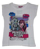 Girls T-Shirt Tops Official Monster High 7-14 Years