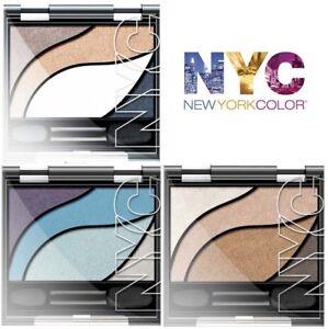 Eye shadow Palette 4 shade NYC Color Instinct ~ Brown Bronze Cream Blue Lilac