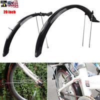 "20"" Front&Rear Fenders Mud Guard set Durable Bike Bicycle Mudguards Black 1 Pair"