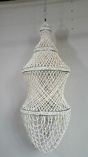 Recycled Shell Pendant Lightshade Hanging Mobile Spiral Lamp Beach Coast Large