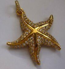 Thomas Sabo 18ct gold-plated silver starfish pendant