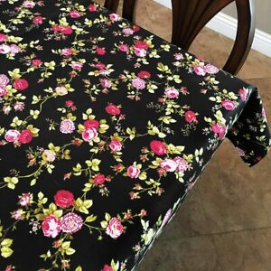 lovemyfabric Vintage Floral Cotton Tablecloth for Birthdays, Special Events