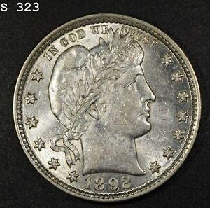 """1892 Barber Quarter """"AU++"""" *Free S/H After 1st Item*"""