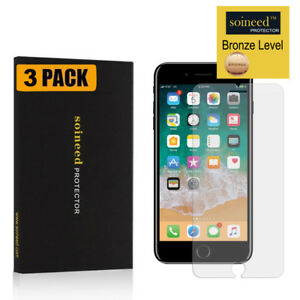 [3-Pack] Tempered Glass Screen Protector Saver For Apple iPhone 7 Plus 8 Plus