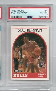 Scottie Pippen 1989-90 NBA Hoops Basketball Trading Card PSA 8 Graded