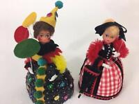 Lil Missy Beaded Doll Vtg Walco Lot 2 Gibson Girl 13367 Clown 13386 1976 Craft