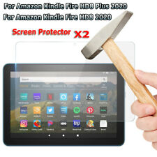 2pcs Screen Protector Glass Film for 8.0'' Amazon Kindle Fire HD8/ HD8 Plus 2020