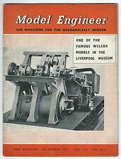 Model Engineer March 1957 Vol.116 No.2912 Percival Marshall & Co Ltd Good-