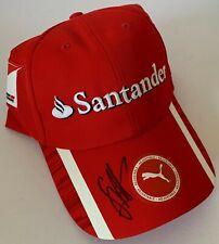 Sebastian Vettel main signé F1 Cap Ferrari-Formule 1 Champion du monde la preuve 2.