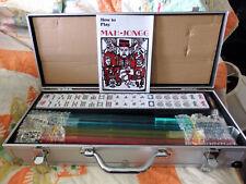American Mah Jong Full Set in Metal Aluminum Traveling Case - NEW