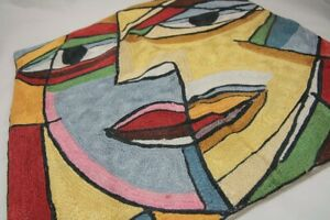 """Cubist / Picasso Inspired Face 18"""" Cushion Cover 18 x 18"""""""