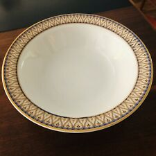"""9"""" Round Vegetable Bowl Traditions by AMERICAN ATELIER Blue, Gold Judaic Design"""