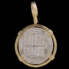Atocha Sunken Treasure Jewelry - 8 Reale Silver Coin Pendant
