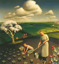 Spring in the Country  by Grant Wood    Giclee Canvas Print Repro