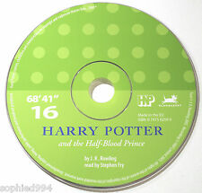 Harry Potter Half Blood Prince Stephen Fry Audio Book CD SPARE DISC: SIXTEEN 16