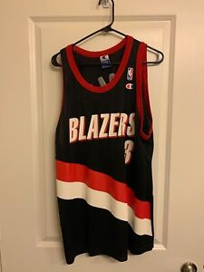 Black Portland Trail Blazers Damon Stoudamire Champion Jersey XL