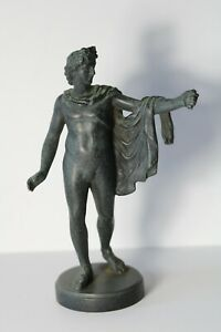 Antique c.1900 Austrian Foundry Signed Apollo Belvedere Bronze Cabinet Statue