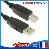 Cavo USB 5 Metri 2.0 Tipo A-B per Stampante Epson Canon hp Brother