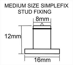Simplefix Stand off Sign Locator STUD FIXINGS, MEDIUM - 50 Letter Fixing STUDS