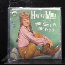 """Hayley Mills - Ching-Ching & Ding Ding Ding / Side By Side 7"""" VG+ Vinyl 45 F-401"""