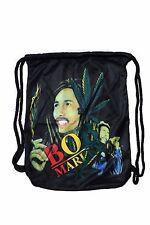 "BOB MARLEY DRAWSTRING KNAPSACK BAG  SIZE: 14"" X 18"" INCH"