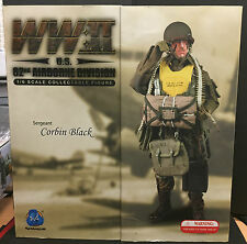 "WWII DRAGON DID US 82nd AIRBORNE PARAS CORBIN 1/6 ELITE FORCE 12"" ACTION FIGURE"