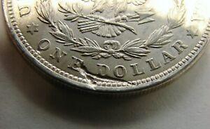 1921 - Morgan Silver Dollar - Struck Thru Wire Reverse - Mint Error