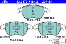 Bremsbelagsatz Scheibenbremse ATE Ceramic - ATE 13.0470-7184.2