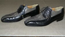 RARE! MAURI Two-Tone Genuine Alligator Crocodile Lace up Boots Loafer Shoe Polo