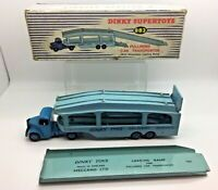 Superb Dinky SuperToys Pullmore Car Transporter 982 In Original Box