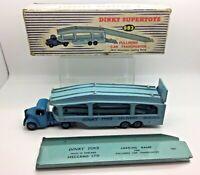 Superb Dinky SuperToys Pullmore Car Transporter 982 In Original Box