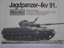 11/1983 PUB HAGGLUNDS & SONER SWEDEN JAGDPANZER IKV 91 CHAR ORIGINAL GERMAN AD
