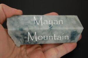 """NEW COLOR! """"ARCTIC LUNA"""" BLUE GUATEMALAN JADEITE JADE ROUGH MAYAN MOUNTAIN 544g"""