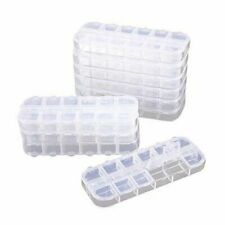 Clear Jewelry Box (10 Pack) Bead Storage Organizer, 12 Compartments Each