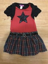 Red / Black Color Girls Christmas/ Holidays Dress For Size 5