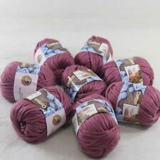 Lot of 8BallsX50g Chunky Cotton Smooth Scarf Hand Knitting Yarn Ruby Heather