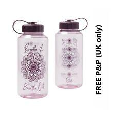 AVON REFILLABLE WATER BOTTLE HYDRATION Mandala Design Sipper **FREE P&P**