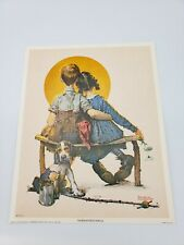 """Norman Rockwell """"Puppy Love""""  """"Boy and Girl Gazing at the Moon"""" 1972 Lithograph"""