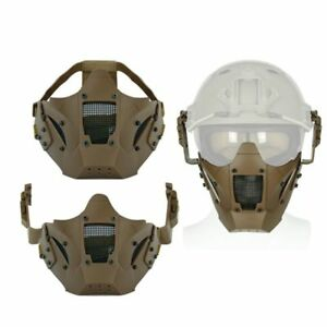 Airsoft Paintball Hunting Mask Tactical Combat Half Face Mask Military War Game