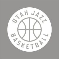 Utah Jazz #6 NBA Team Logo 1Color Vinyl Decal Sticker Car Window Wall