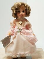 """VINTAGE IDEAL 1982 SHIRLEY TEMPLE 8"""" DOLL """"THE LITTLE COLONEL"""" W/ BOX AND STAND"""
