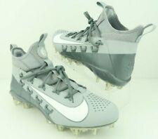 Nike 880409-011 Alpha Huarache 6 Elite Lax Lacrosse  00004000 Wolf Gray CleatsMen's Us 12