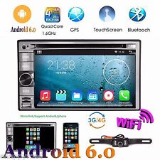 "6.2"" Smart Android 6.0 4G WiFi Double 2DIN Car Radio Stereo DVD Player GPS+Cam"