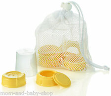 MEDELA BREAST MILK FEEDING BOTTLE SPARE PART LID COLLAR CAP DISK DISC BAG #87165
