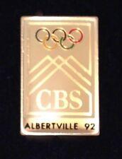 CBS Albertville Olympic Media Pin Badge ~ 1992