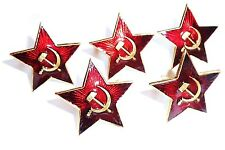 5 pack WW2 USSR Soviet metal badge red star tie pin Russia army hat jacket CCCP