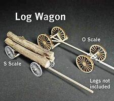 Log Wagon S Sn3 Scale Model Railroad Unpainted Wood Laser Kit Gmlgs