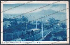 NAPOLI CITTÀ 122 TRENO - MERGELLINA - RIONE SANNAZZARO POSILLIPO Cartolina 1933