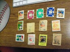 Cracker Jack, Paper, Prize, Lot of Thirteen (13), Different Pamphlets, Low Grade