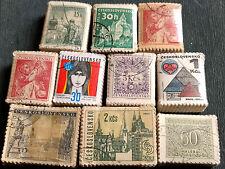 Tchécoslovaquie X 1000 timbres, 10 Faisceaux bundleware #H80